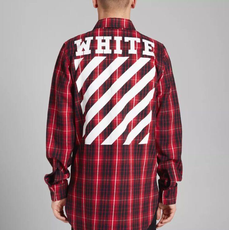46580e1e9787 Off White 16ss Flannel Shirt