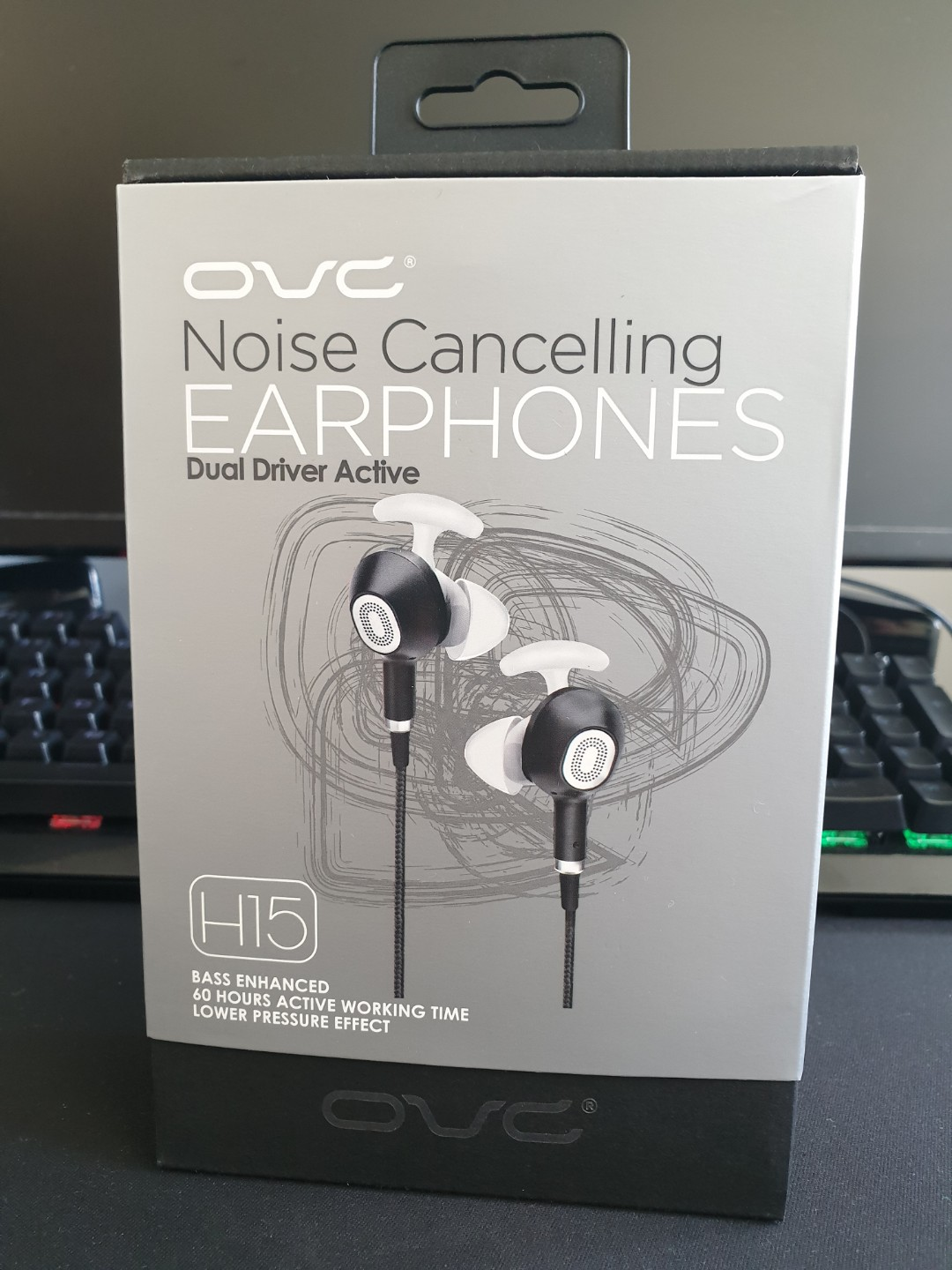 4029f634c8d OVC H15 active noise cancelling earphones, Electronics, Audio on Carousell