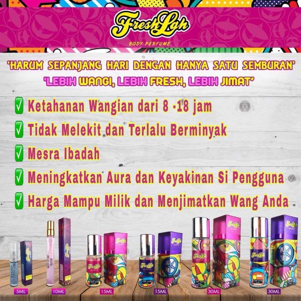 Perfume Fresh Lah Produk Badan Dan Kecantikan Lain Lain Di Carousell