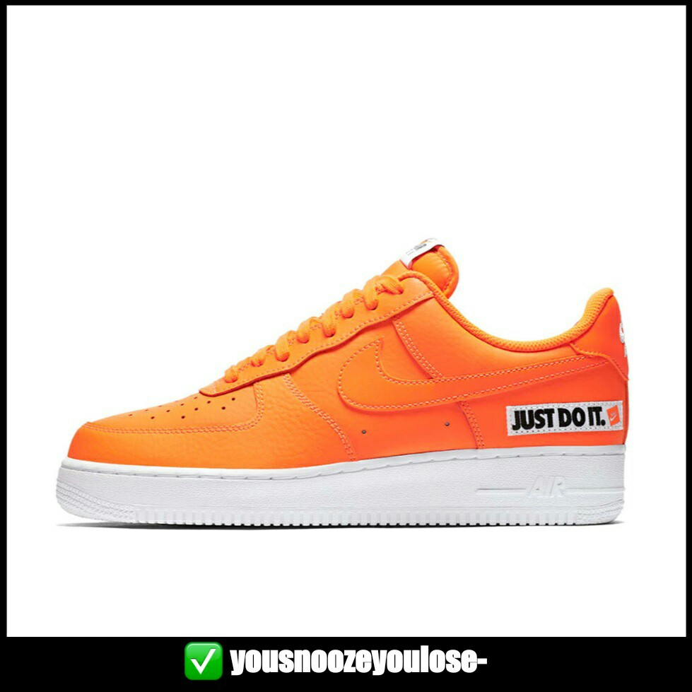 new product 4b481 5d7b6 PREORDER NIKE AIR FORCE 1 LOW LO JUST DO IT TOTAL ORANGE, Bulletin Board,  Preorders on Carousell