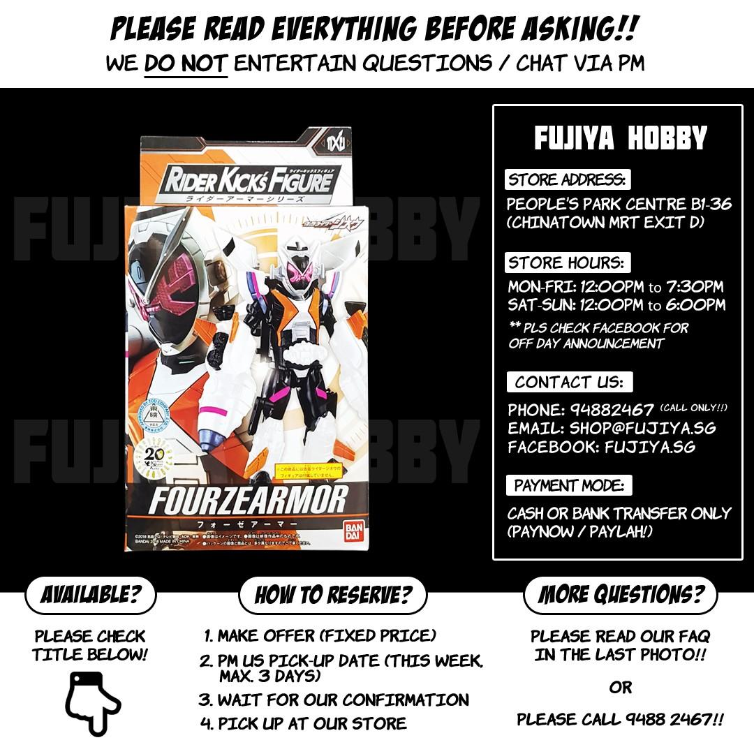 [READY!!] Kamen Rider Zi-O / Zio Rider Kick's Figure RKF Rider Armor Series  Fourze Armor