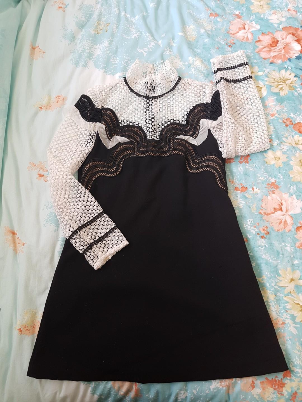 Self portrait wave trim mini dress