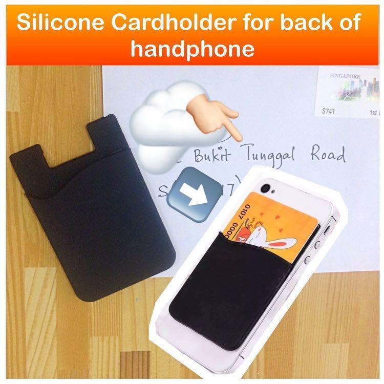 Silicone Cardholder For Handphone Handphone Mobile Phone Card Holder Pouch Practical Gifts Uncle Anthony For More Pics Details