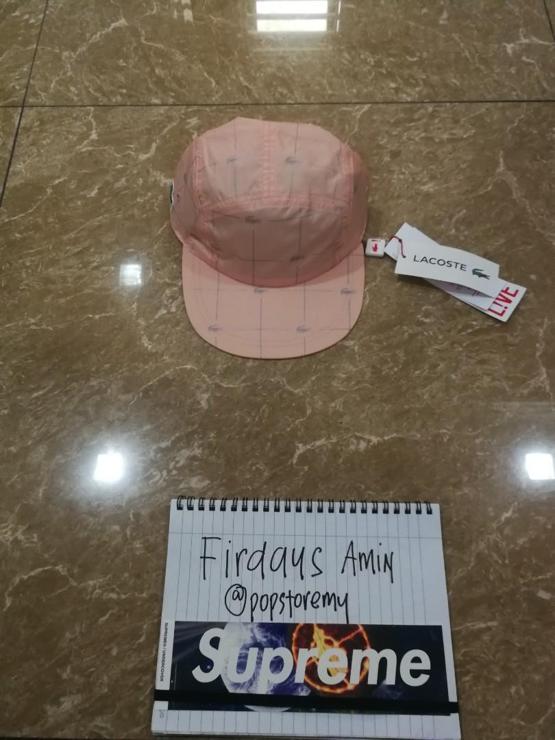 b3455eb150e Supreme lacoste reflective grid nylon camp cap (super steal)