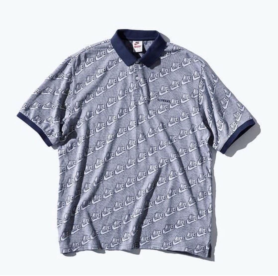 5cfc1cfc Supreme x nike jacquard polo black Size M, Men's Fashion, Clothes ...