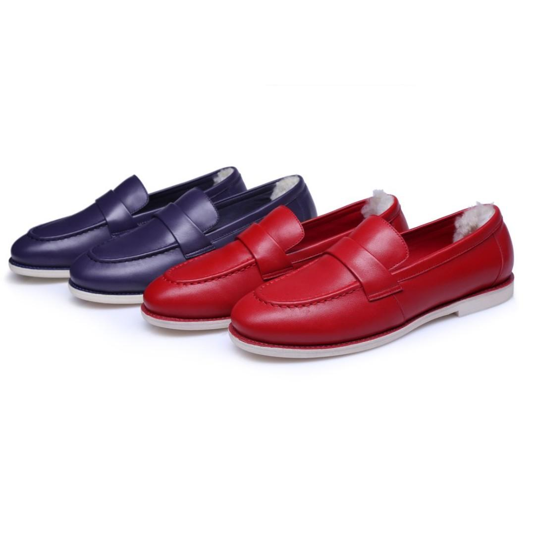 UGG Bella Women Fashion Loafers Lambskin Casual Comfortable Flats Slip On College Shoes