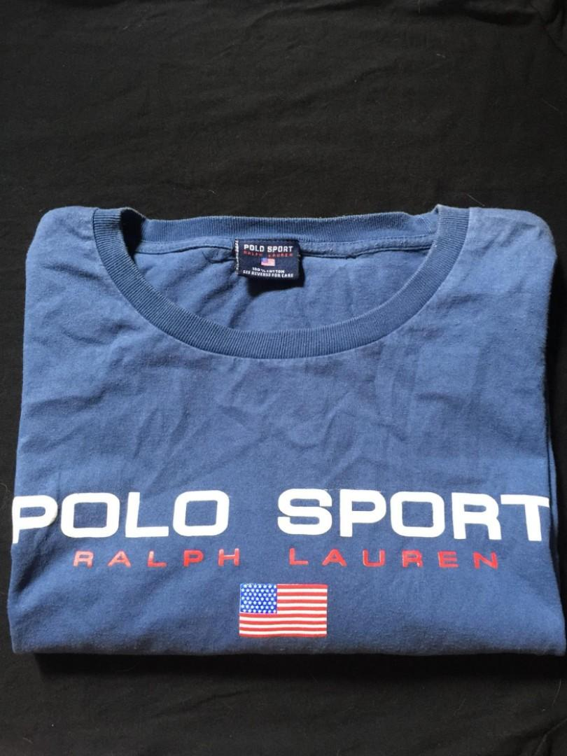 e58e159d62a04 Vintage Polo Sport T-shirt, Men's Fashion, Clothes, Tops on Carousell