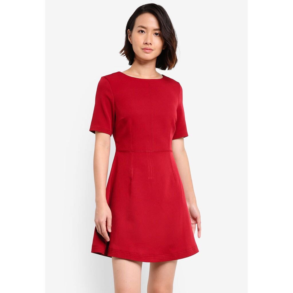 3290872c20832 Zalora Stitch Detail Fit   Flare Dress