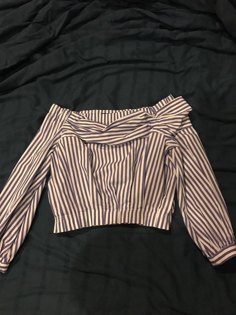 Zara stripe off shoulder