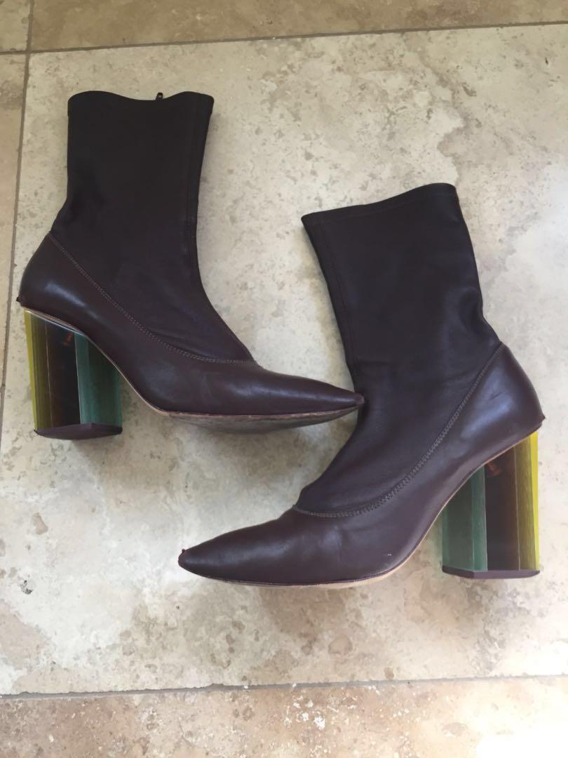 Zimmermann stretch ankle boots Burgundy - size AUS 7