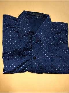 Navy Blue Short Sleeve Polo