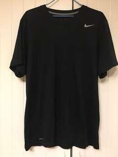 Nike Dri Fit BLACK Tee XL 黑色 運動衫