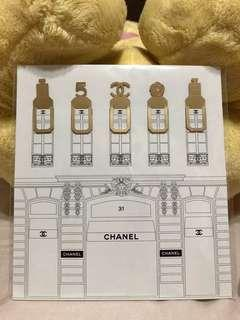 Chanel collection bookmarks