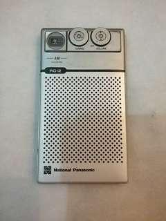 National Panasonic am radio R012, 收音機 懷舊