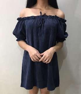 Sabrina Navy Dress
