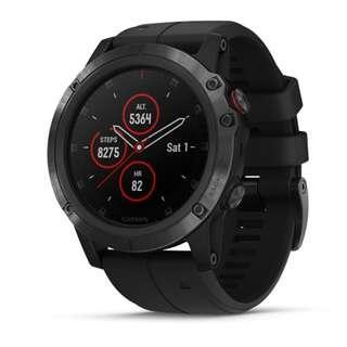 Garmin Fenix 5X PLUS 51mm Sapphire Multi-Sport Training GPS Watch ( Black - 010-01989-60 / DLC Titanium - 010-01989-67 ) [SEE DESCRIPTIONS]