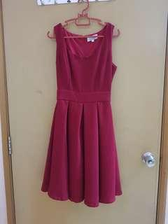 (3 for RM100) Red Flare Dress