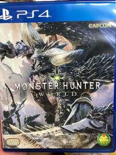 PS4 Monster Hunter World mhw 中文版 魔物獵人
