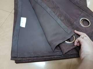 Black-out Curtains (Dark Brown)