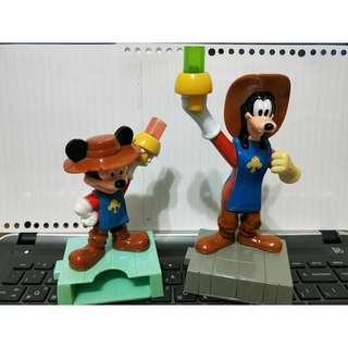 🚚 麥當勞玩具便條紙盒(可放筆)-牛仔米奇(左)