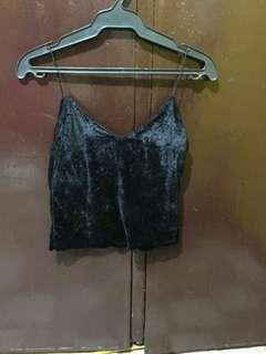 Velvet black top