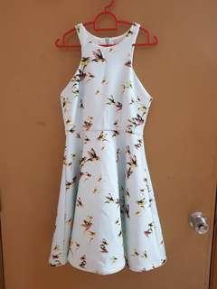 (3 for RM100) light blue bird skater dress