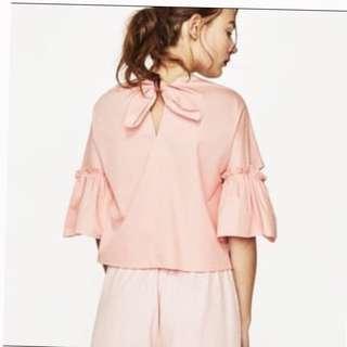ZARA pink poplin top