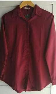 Kemeja Maroon / maroon shirt