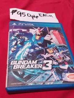 Psvita game GUMDAM BREAKER 3