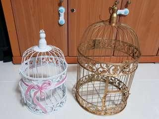 Wedding decorations - European style bird cages (2 sizes)