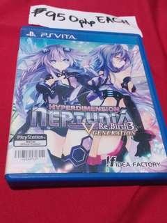 Psvita game hyperdimension NEPTUNIA rebirth 3 VGENERATION
