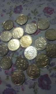 Uang coin Rp 500,  thn 2000-2003