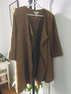 hm faux suede coat size 4