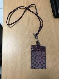 Coach Lanyard / Card holder (Authentic)
