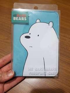 全新 現貨 熊熊遇見你 Webarebears  阿極 白熊 護照夾 護照套