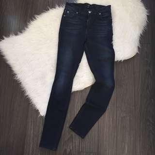 7 for All Mankind Mid Rise Skinny Jeans Size 26