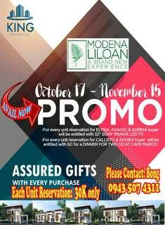 Modena Liloan Promo on Elegant House with complete amenities