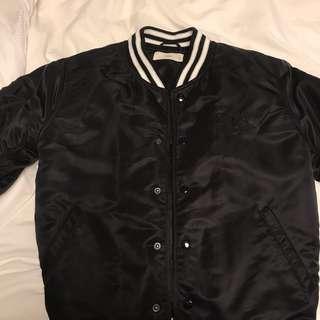 Aritzia TNA Black Bomber Jacket