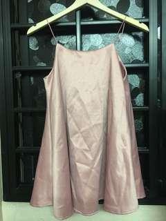 Pink Babydoll Slip On dress