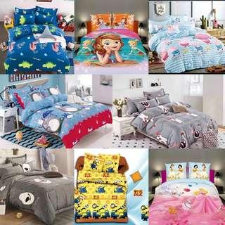 🚚 Bedsheet Fitted Set Single Super Single Queen King