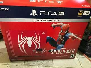PlayStation 4 Pro 1TB Spiderman bundling limited edition
