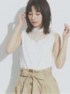 全新購自日本retrol girl white lace top 上衣 靚質地 彈性布料 日系 日牌