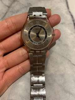 Swatch Ultra Thin 'SKIN' Stainless Steel Watch - Good Condition