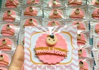 Pink princess souvenirs for birthday and baptism
