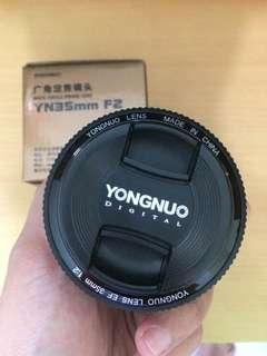 YONGNUO 35MM F/2 LENS FOR CANON Mulus