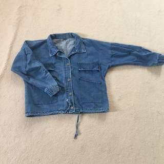 Crop denim jacket size S/M