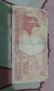 Uang Kuno 100 Rupiah Tahun 1992