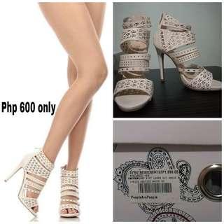 White Laser cut Sandals