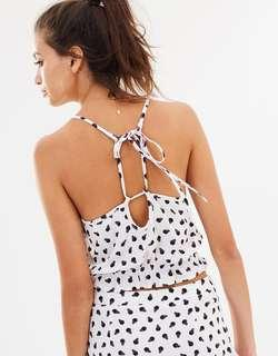 Dazie Smudged Spot Black and White Cami Top
