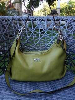 Ukay2x source Coach neon green small 2 way bag